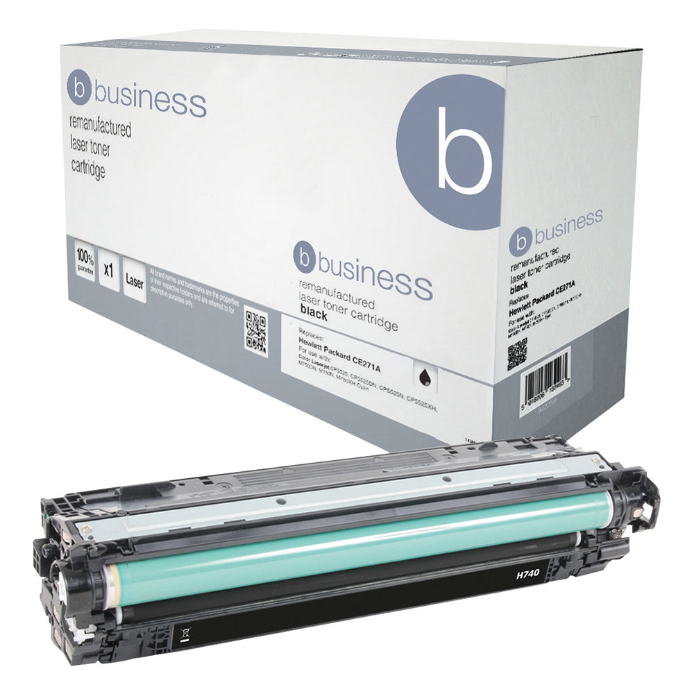 Business Remanufactured Laser Toner Cartridge Page Life 7000pp Black [HP 307A CE740A Alternative]