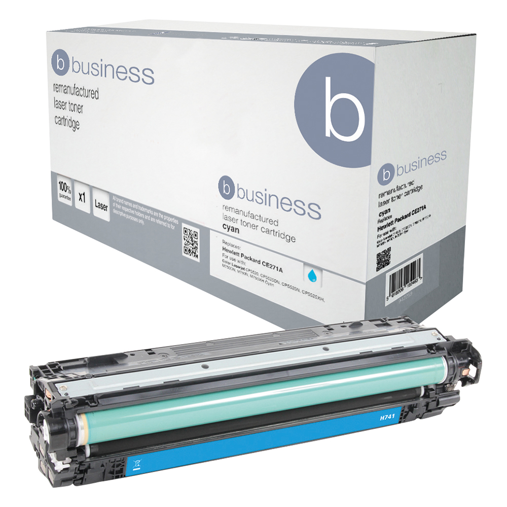 Business Remanufactured Laser Toner Cartridge Page Life 7300pp Cyan [HP 307A CE741A Alternative]