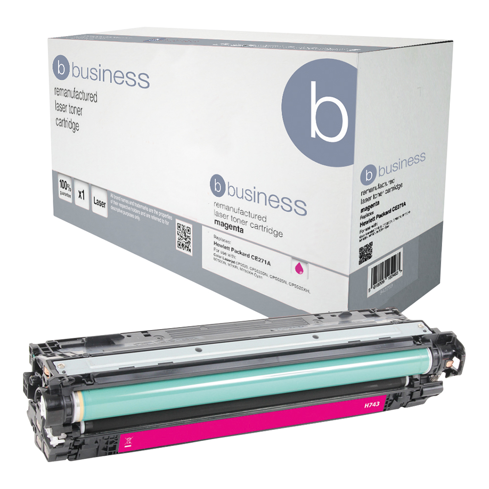 Business Remanufactured Laser Toner Cartridge Page Life 7300pp Magenta [HP 307A CE743A Alternative]
