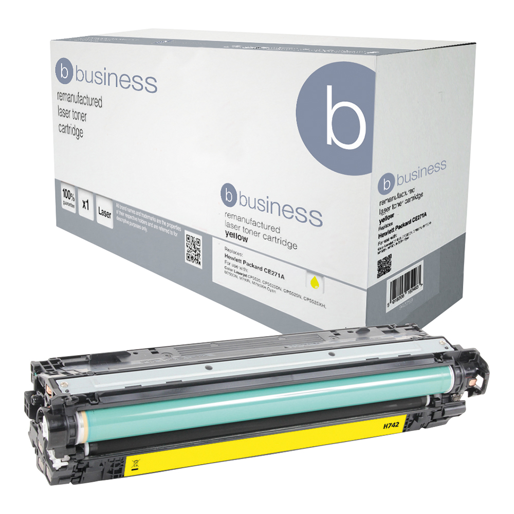 Business Remanufactured Laser Toner Cartridge Page Life 7300pp Yellow [HP 307A CE742A Alternative]