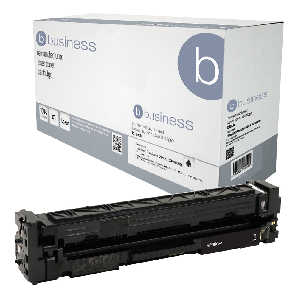 Business Remanufactured Laser Toner Cartridge Page Life 2300pp Black [HP 201X CF400X Alternative]