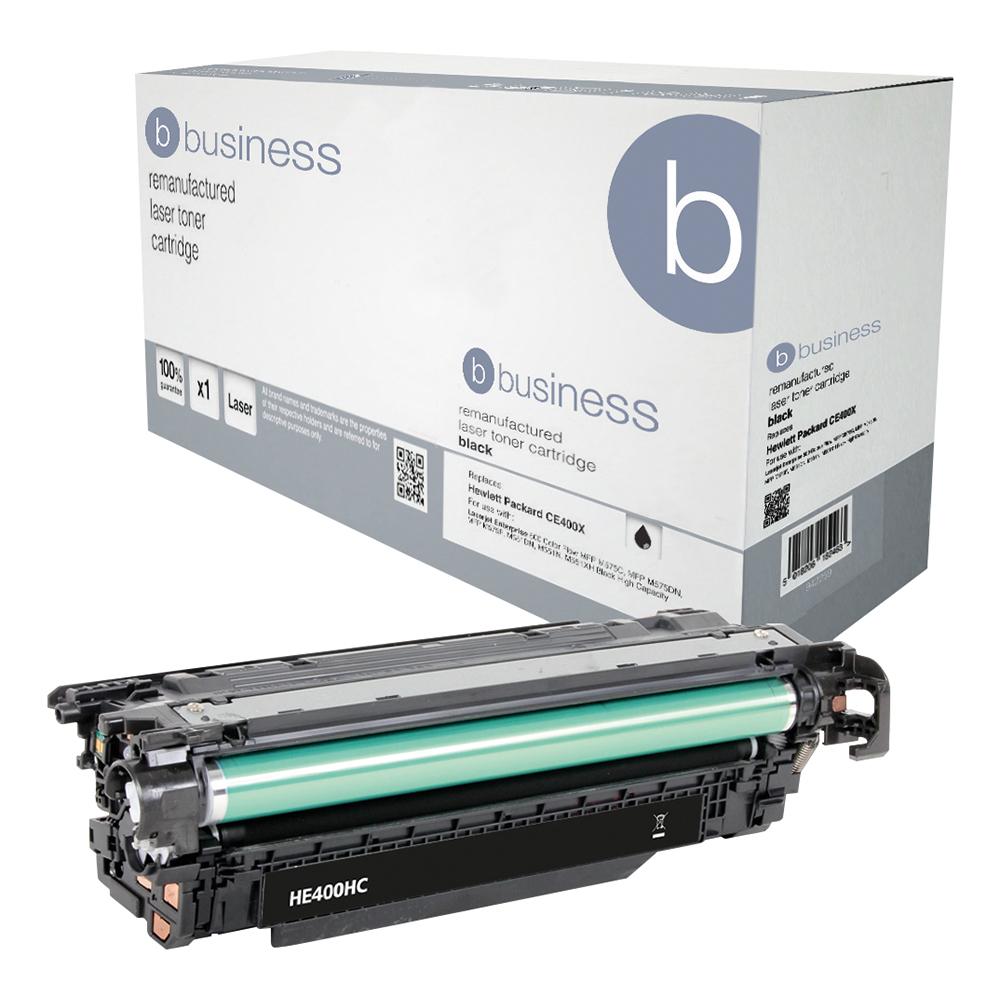 Business Remanufactured Laser Toner Cartridge Page Life 11000pp Black [HP 507X CE400X Alternative]