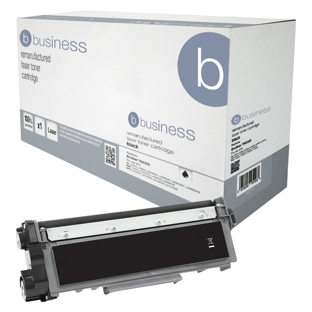 Business Remanufactured Laser Toner Cartridge Page Life 1200pp Black [Brother TN2310 Alternative]