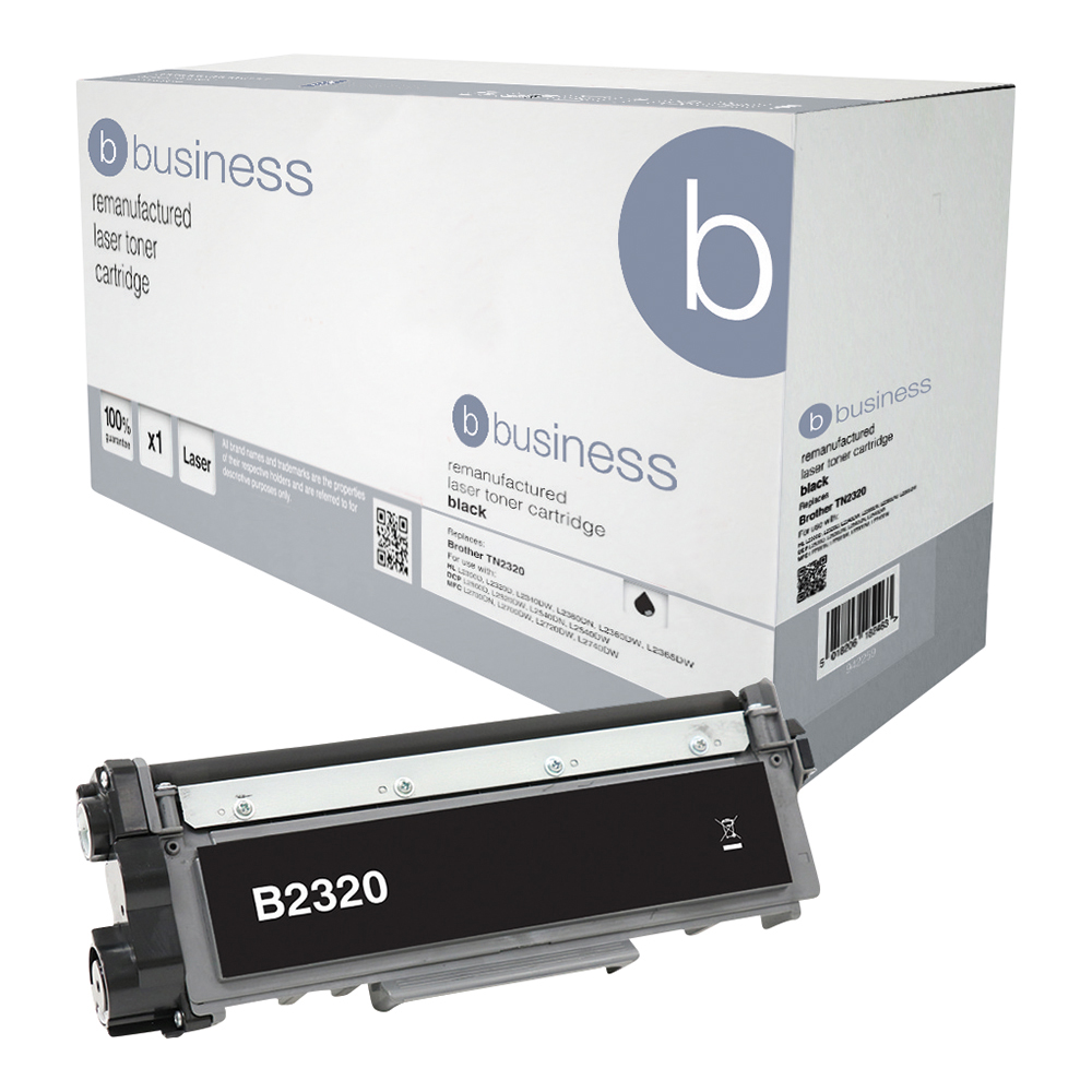 Business Remanufactured Laser Toner Cartridge Page Life 2600pp Black [Brother TN2320 Alternative]