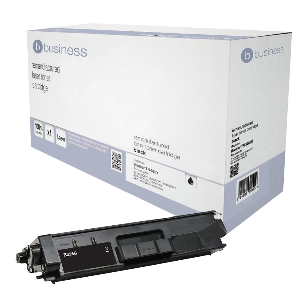 Business Remanufactured Laser Toner Cartridge Page Life 4000pp Black [Brother TN326BK Alternative]