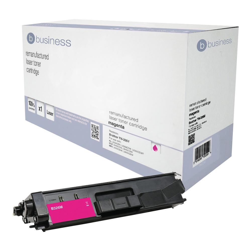Business Remanufactured Laser Toner Cartridge Page Life 3500pp Black [Brother TN326M Alternative]