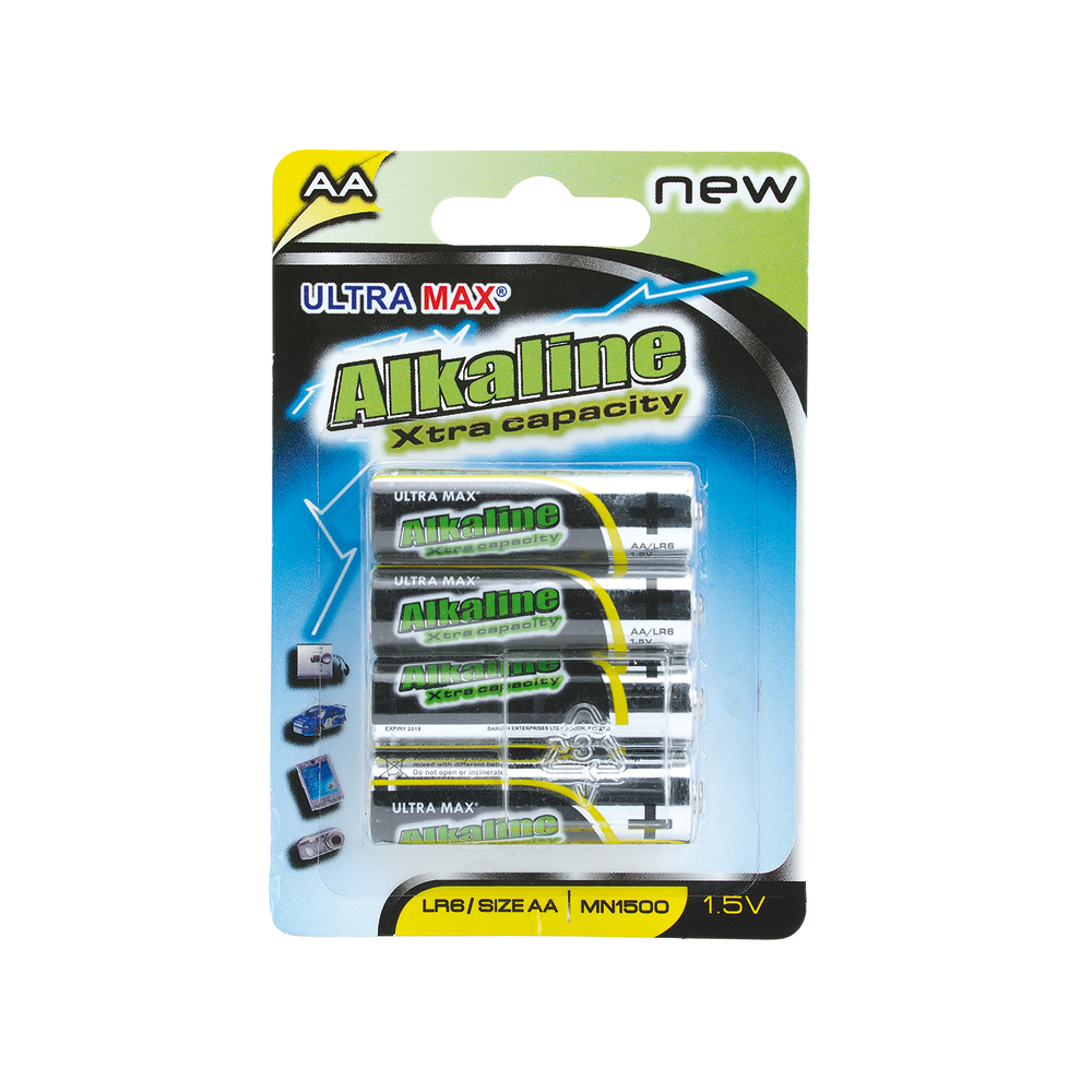 Basics Alkaline Batteries AA [Pack 4]