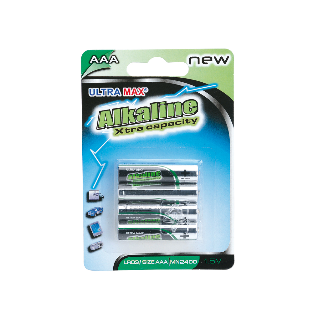 Basics Alkaline Batteries AAA [Pack 4]