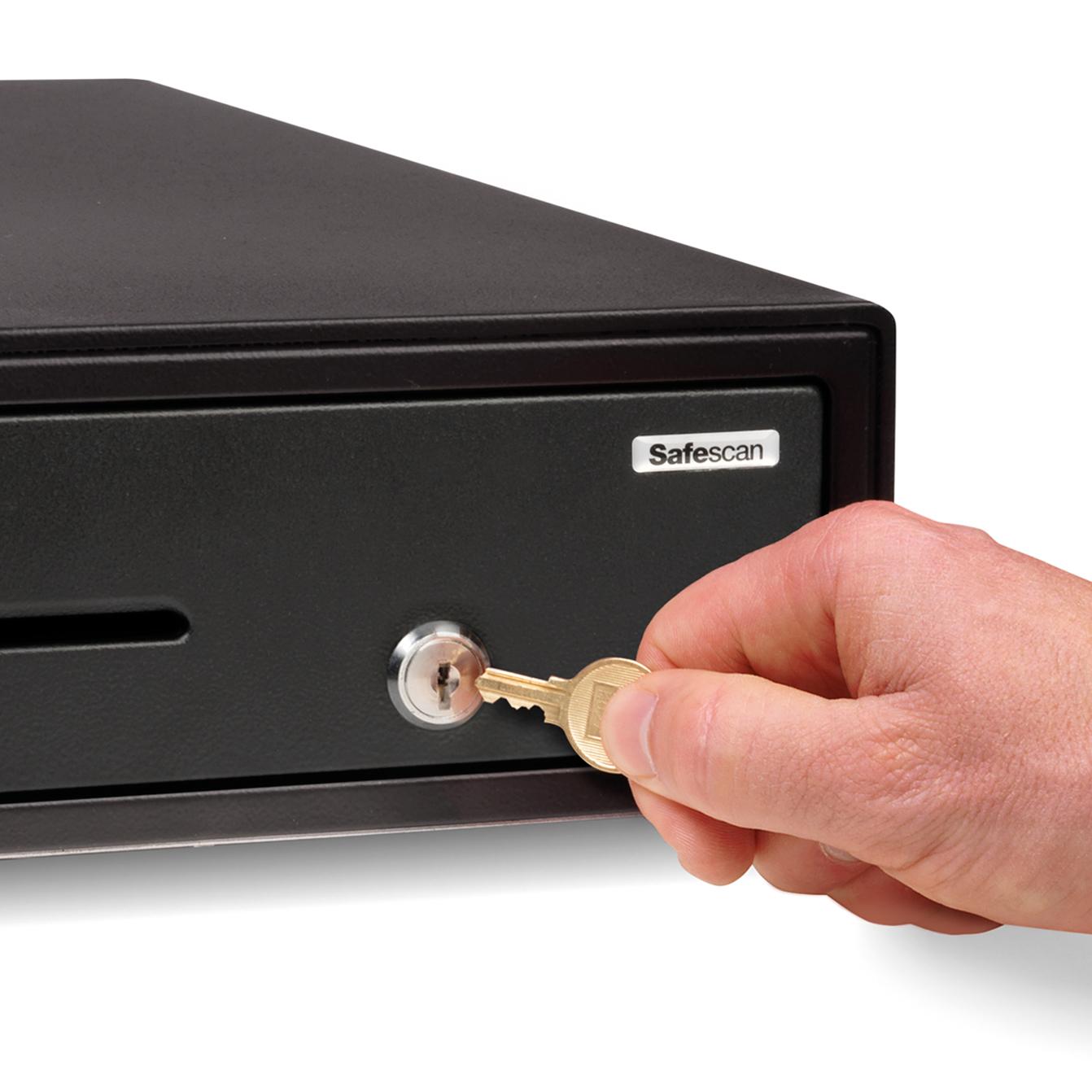 Safescan SD-4141 Cash Drawer Standard Use 6.6kg L410xW415xH115mm Black Ref 132-0425