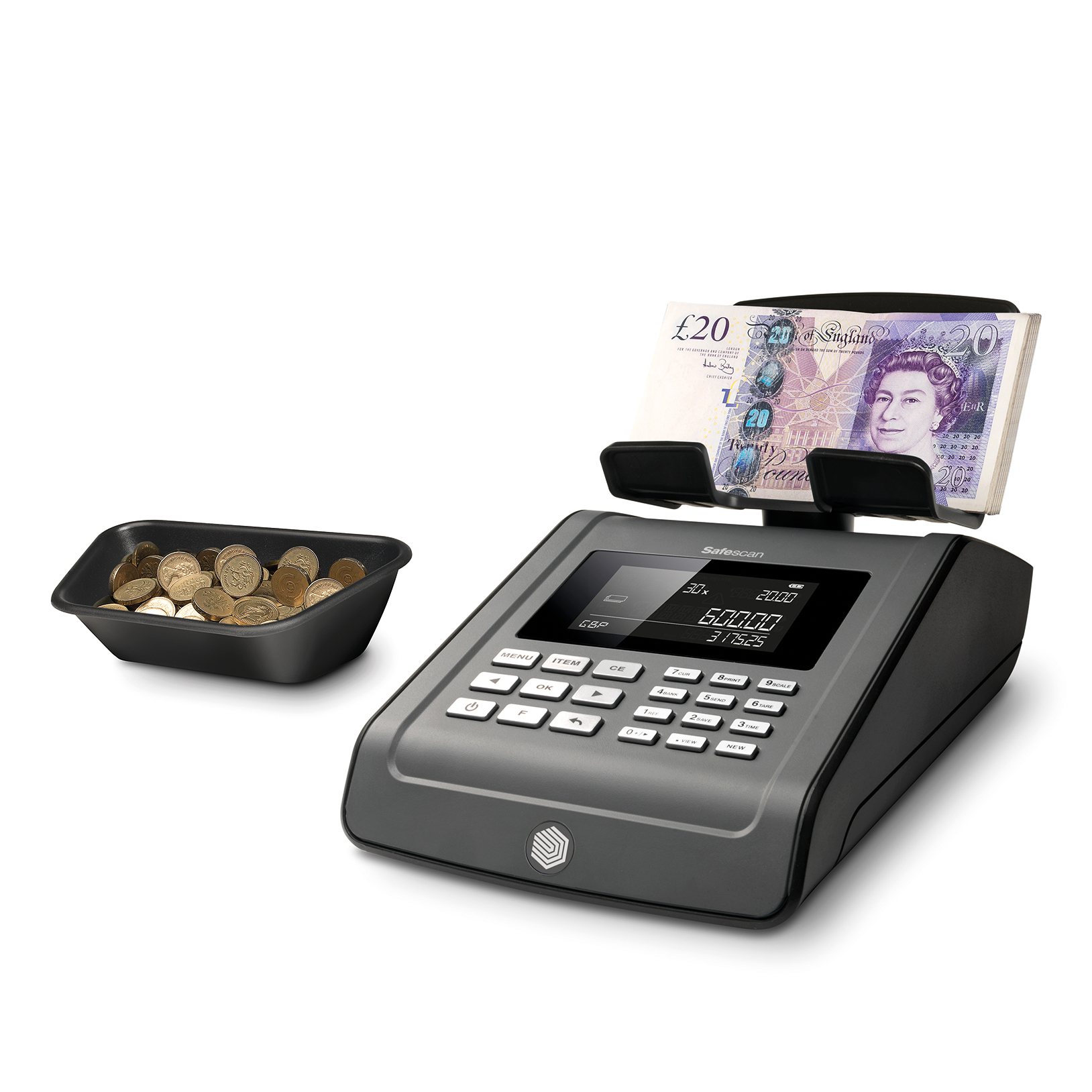 Cash Safescan 6185 Money Counting Scale 1.2kg 151x245x154mm Black Ref 131-0534