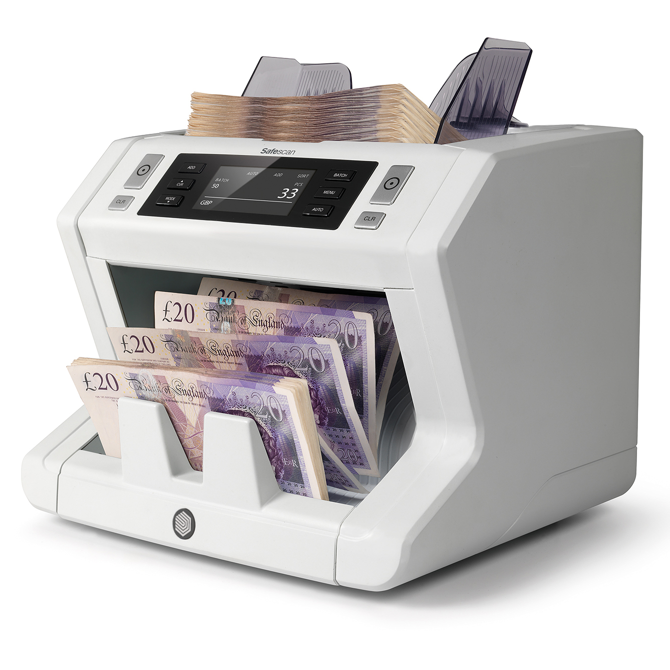 Safescan 2680 GBP Banknote Counter and Counterfeit Detector L262xW264xH248mm Grey Ref 112-0510