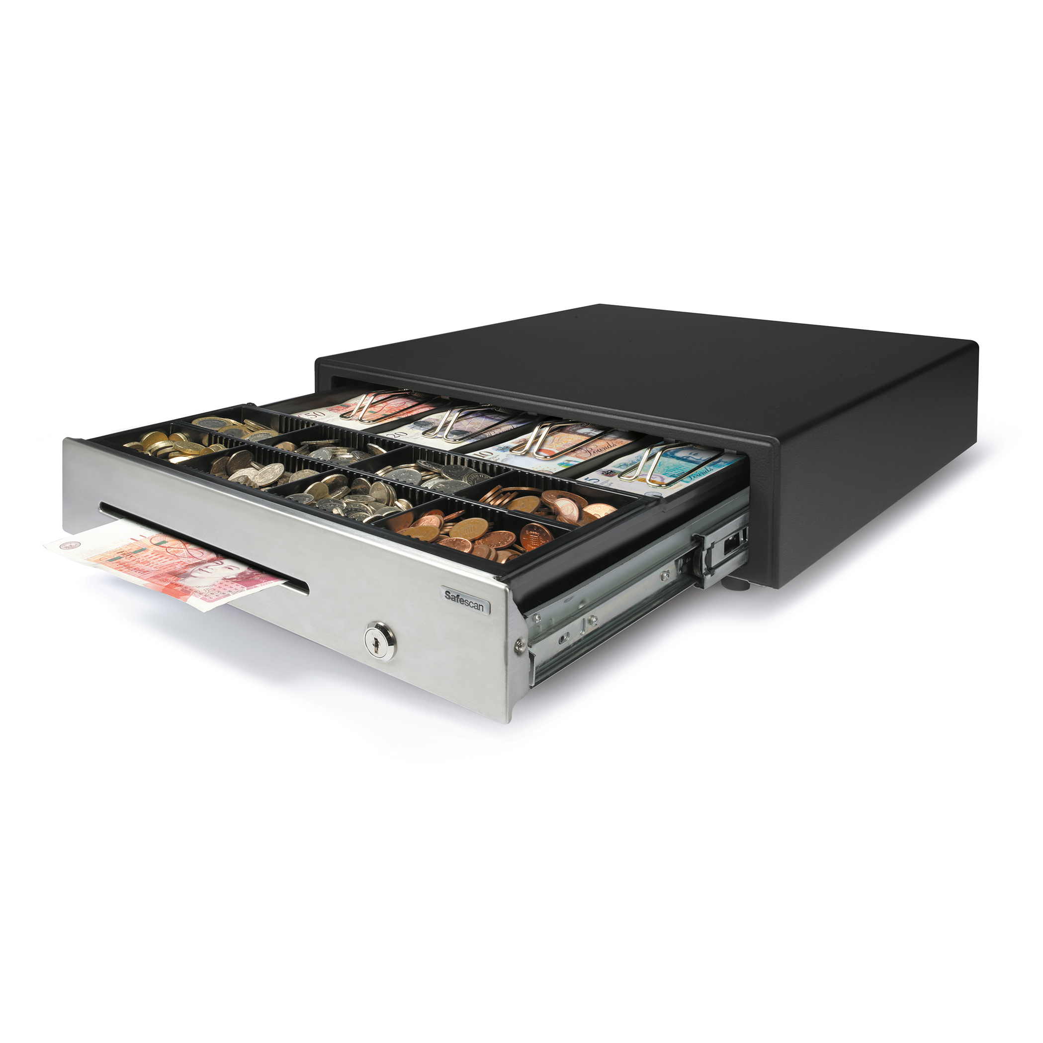 Cash Safescan HD-4141S Heavy-duty Cash Drawer L410xW415xH115mm Black/Silver Ref 132-0426