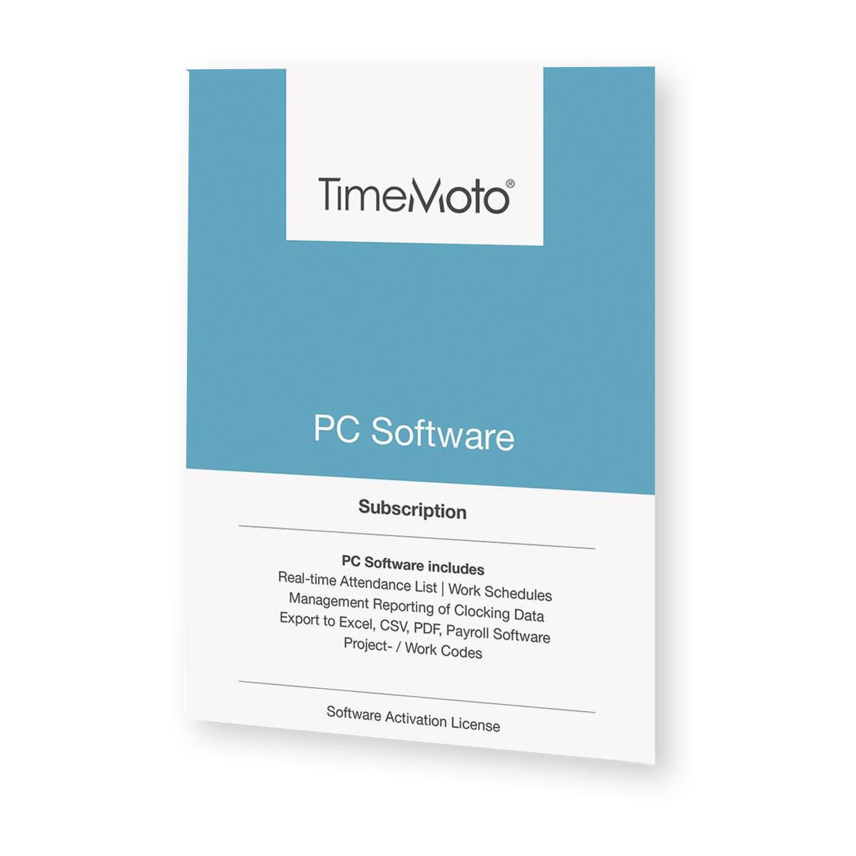 Attendance Machines TimeMoto by Safescan TM PC Software for Time & Attendance System Unlimited Users Ref 139-0601