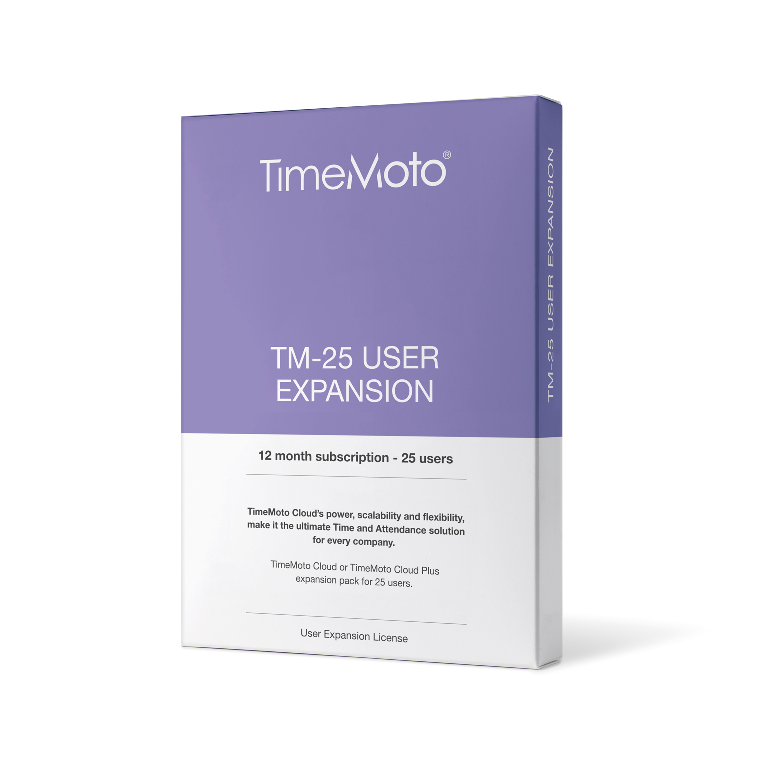 Attendance Machines TimeMoto by Safescan TM-25 Cloud User Expansion 25 Users Ref 139-0592
