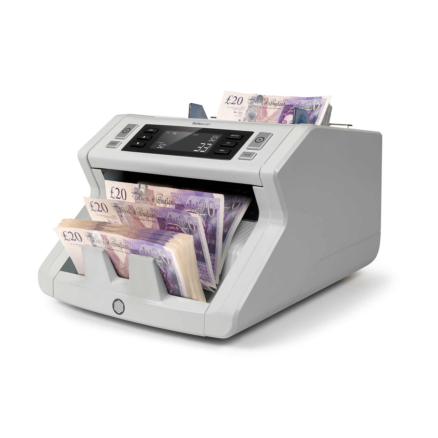 Cash Safescan 2250 Banknote Counter & Checker 5.8kg L250xW295xH184mm Grey Ref 115-0561