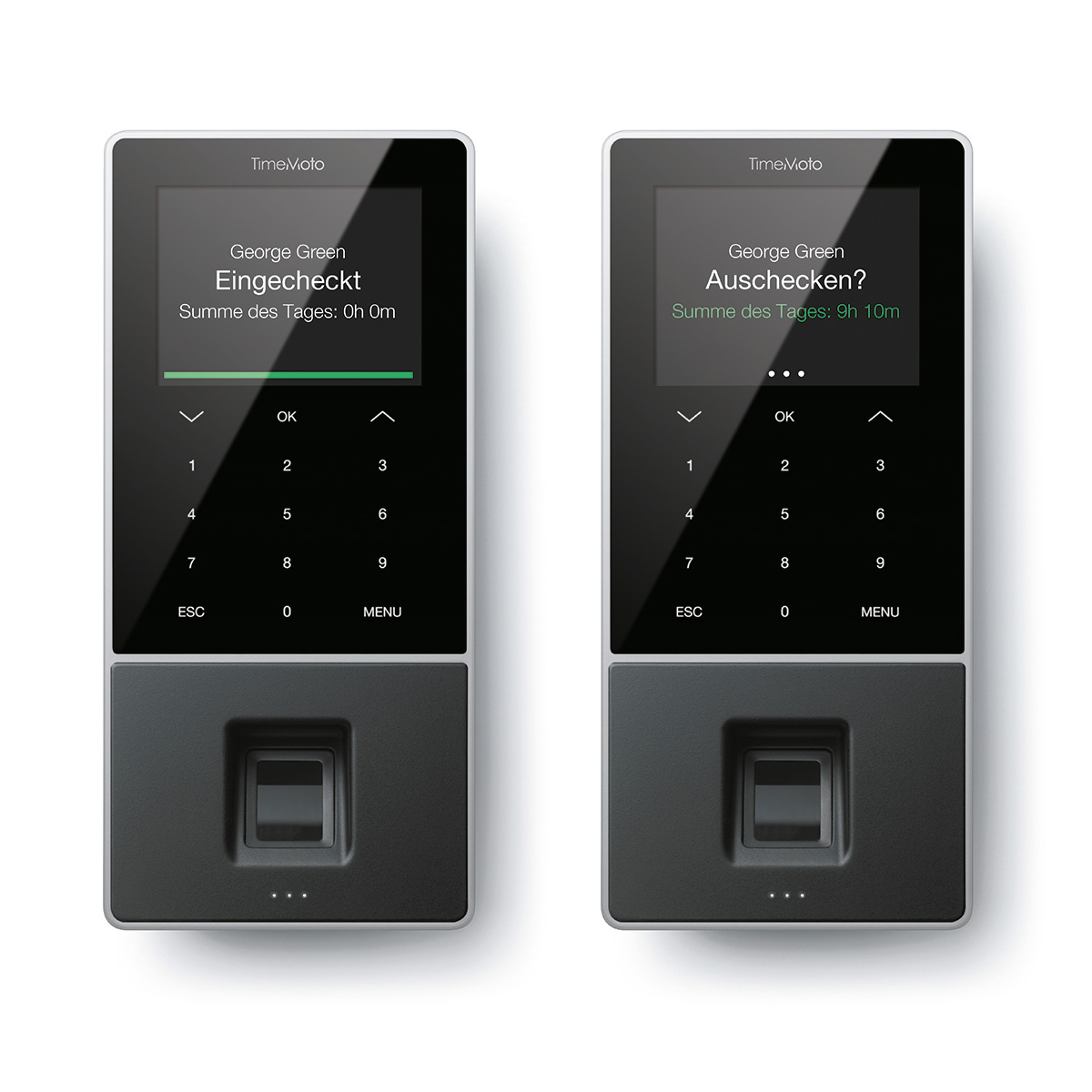 TimeMoto by Safescan TM-828 Time & Attendance System 2000 Users RFID/Fgrprint/Fob/PIN Black Ref 125-0588