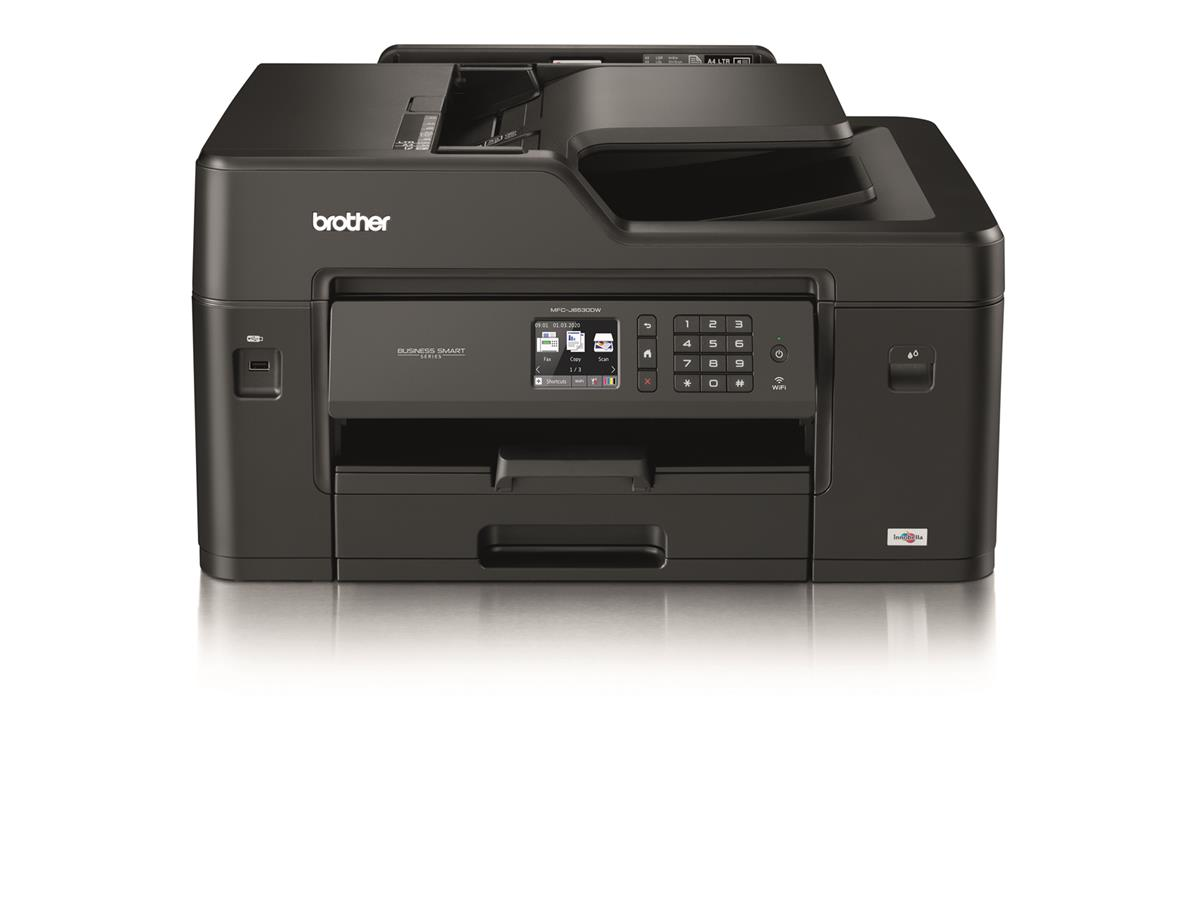 Image for Brother Colour Inkjet Multifunction Printer Wired and Wireless 20ipm A3 Black/Silver Ref MFCJ6530DWZU1