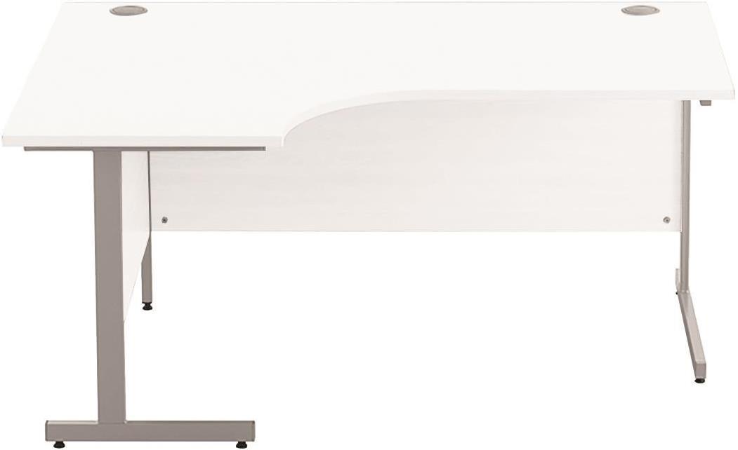 Image for Sonix Cantilever Radial Desk 1600mm Polar White