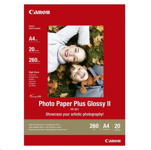 Image for Canon PP-201 Photo Paper Glossy 265 gsm A4 Ref 2311B019 [Pack 20]