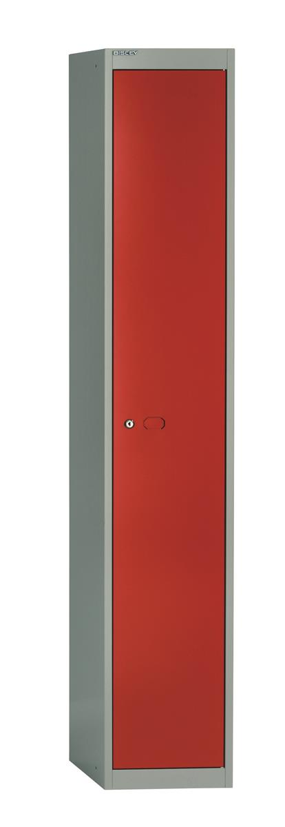 Image for Bisley Steel Locker 457 One Door Grey/Red