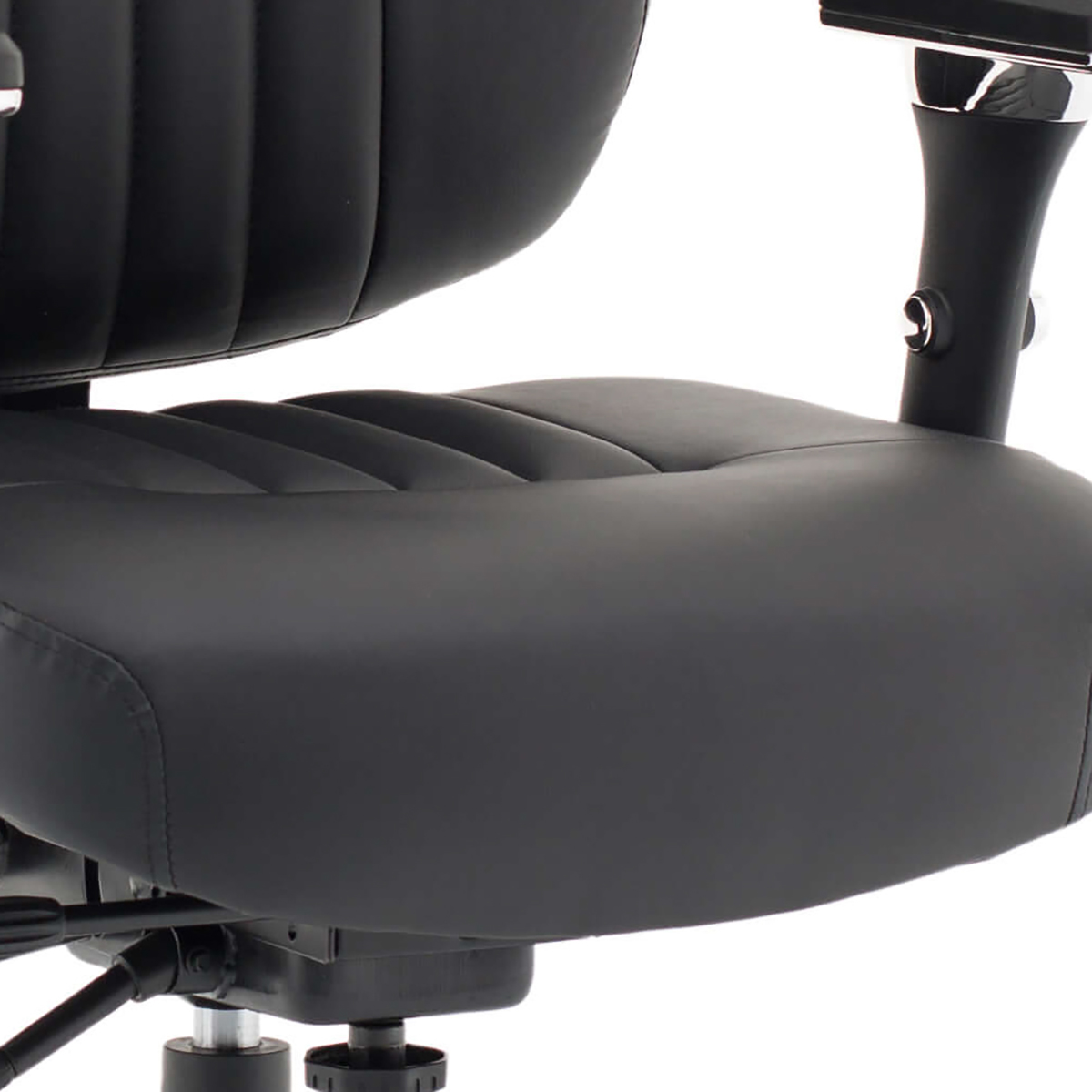 Sonix Barcelona Deluxe Operator Chair Leather Black Ref OP000241