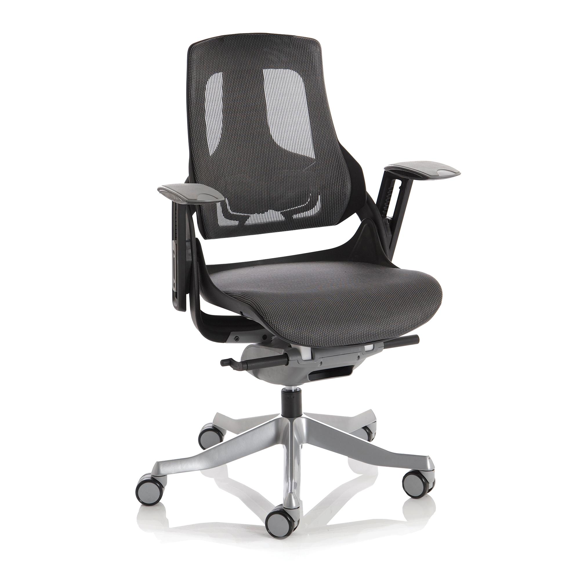 Adroit Zure Executive Chair Black Frame Mesh Charcoal Ref EX000220