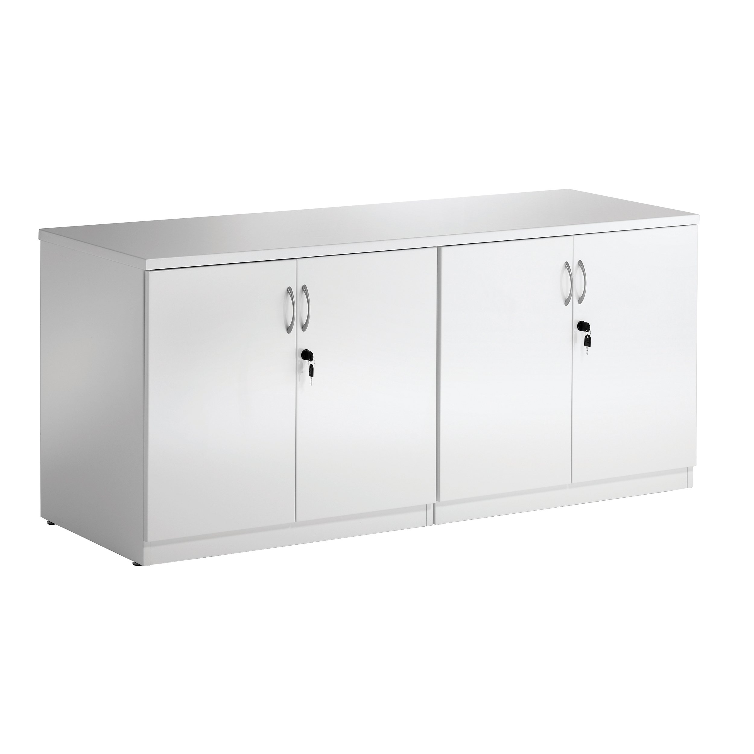 Trexus Credenza Cupboard High Gloss 1600x600x720mm White Ref I000908