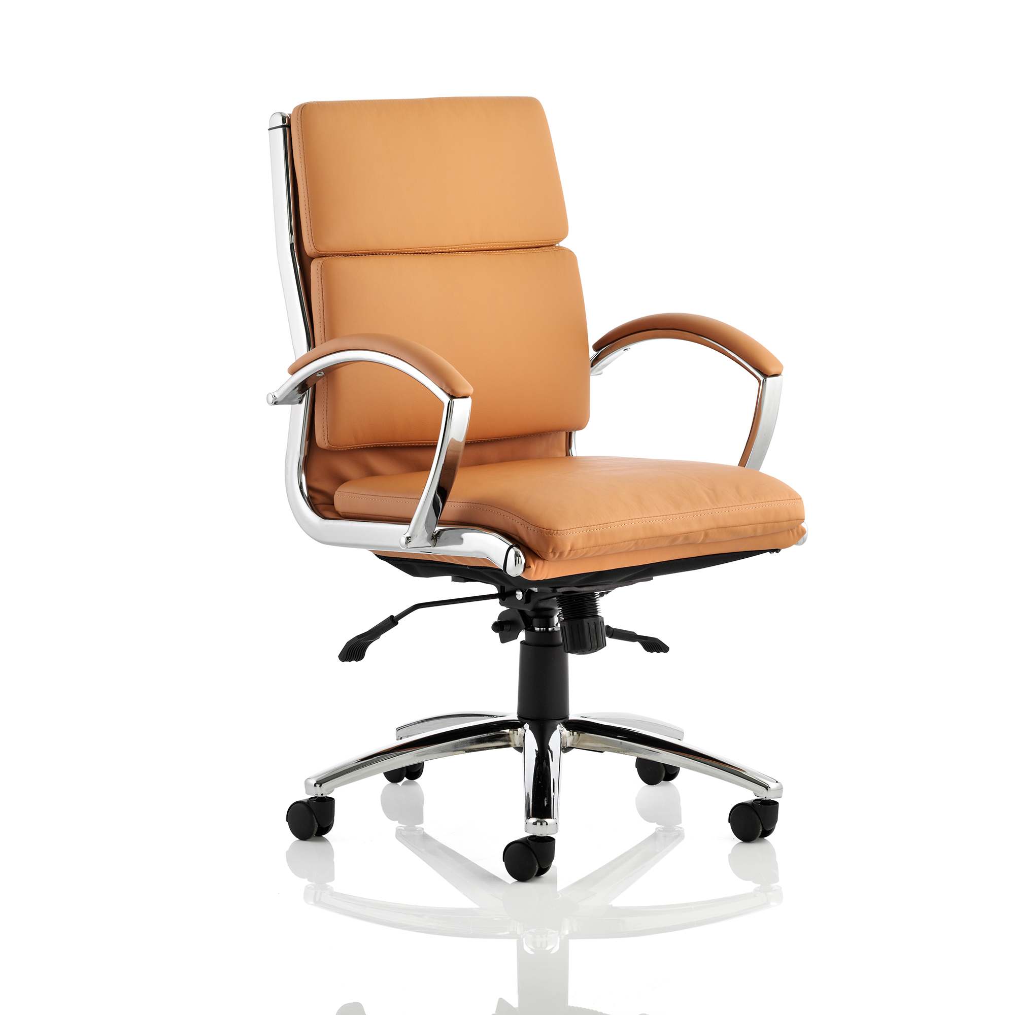Adroit Classic Executive Chair With Arms Medium Back Tan Ref EX000011