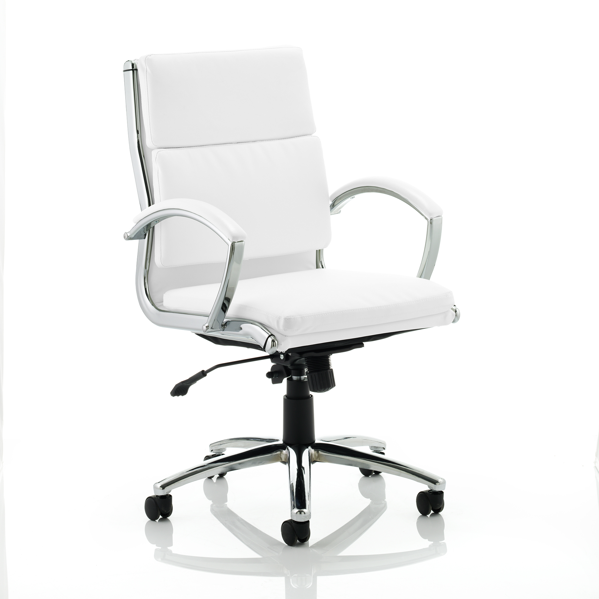 Adroit Classic Executive Chair With Arms Medium Back White Ref EX000012