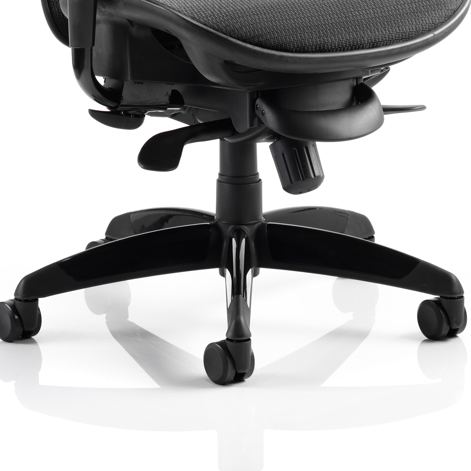 Adroit Stealth Shadow Ergo Posture Chair With Arms Mesh Seat And Back Black Ref PO000021