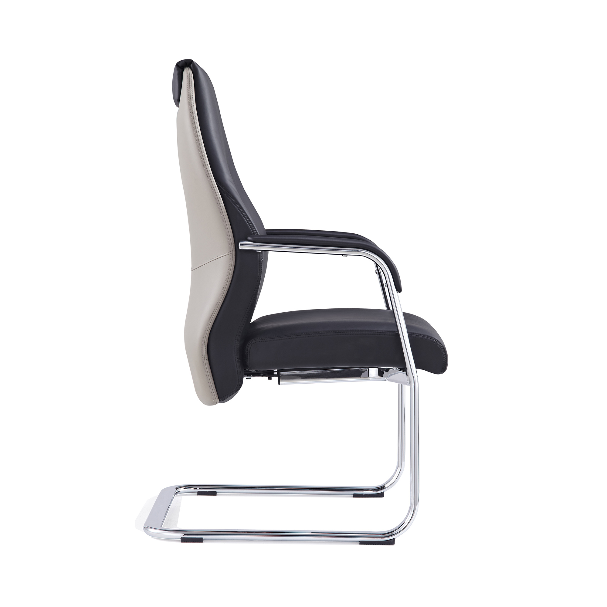 Adroit Mien Cantilever Chair Black and Mink Ref BR000212
