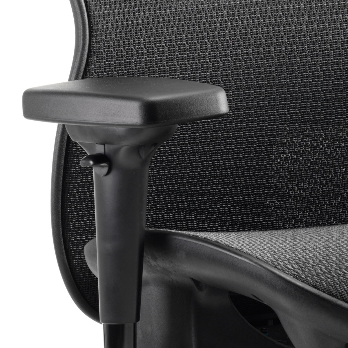 Adroit Stealth Shadow Ergo Posture Chair With Arms With Headrest Mesh Seat And Back Black Ref KC0159