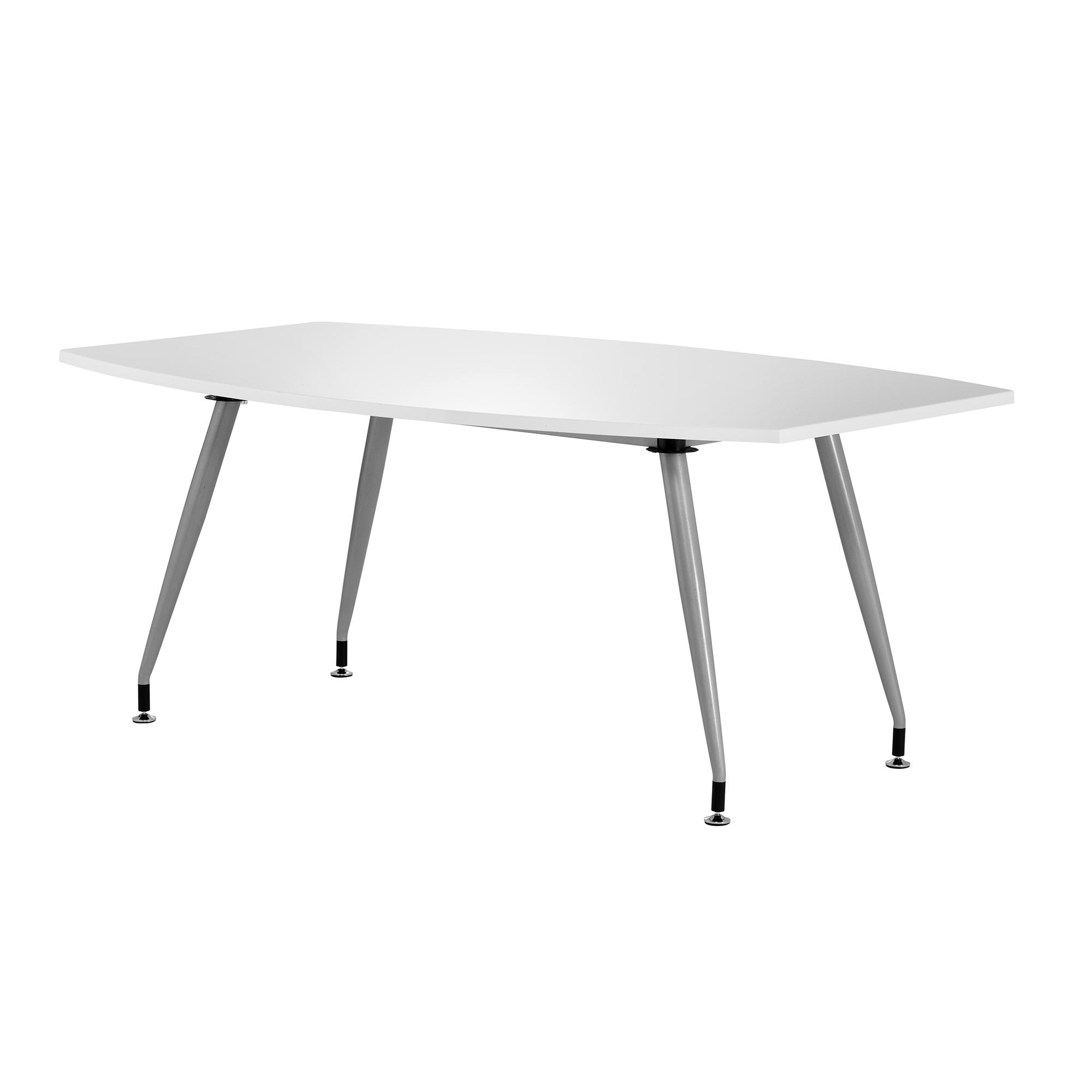 Sonix Boardroom Table Writable Gloss 1800x1200x800mm White Ref I003057