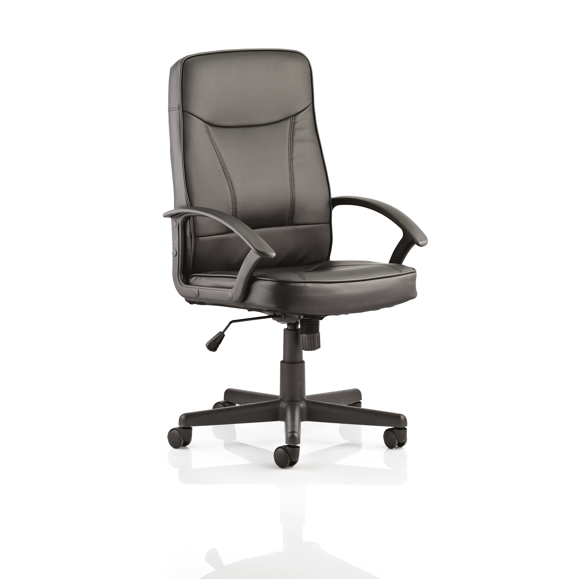 Executive seating Trexus Blitz Executive Black Chair With Arms Bonded Leather Black Ref EX000137