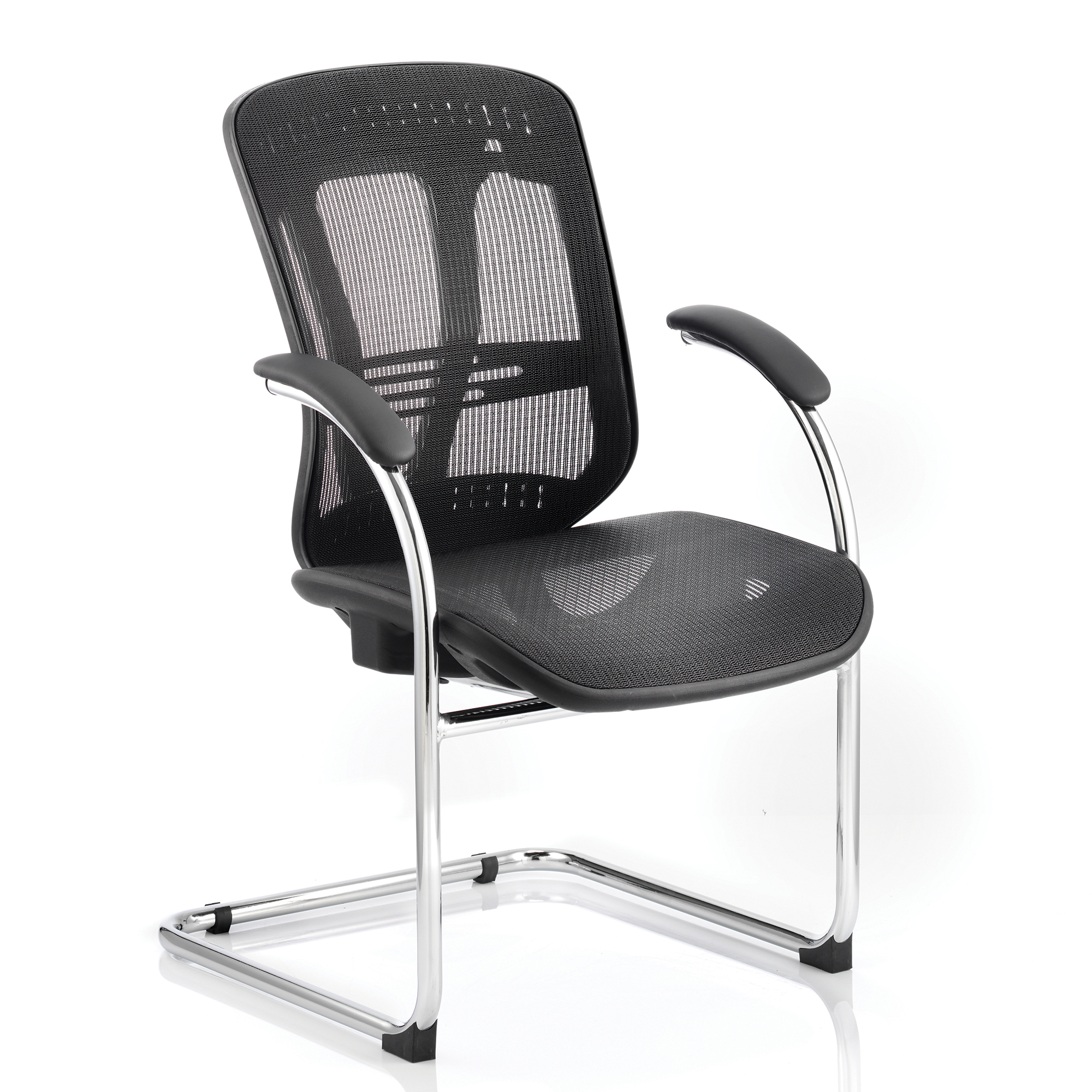 Adroit Mirage Cantilever Chair With Arms Mesh Black Ref BR000092