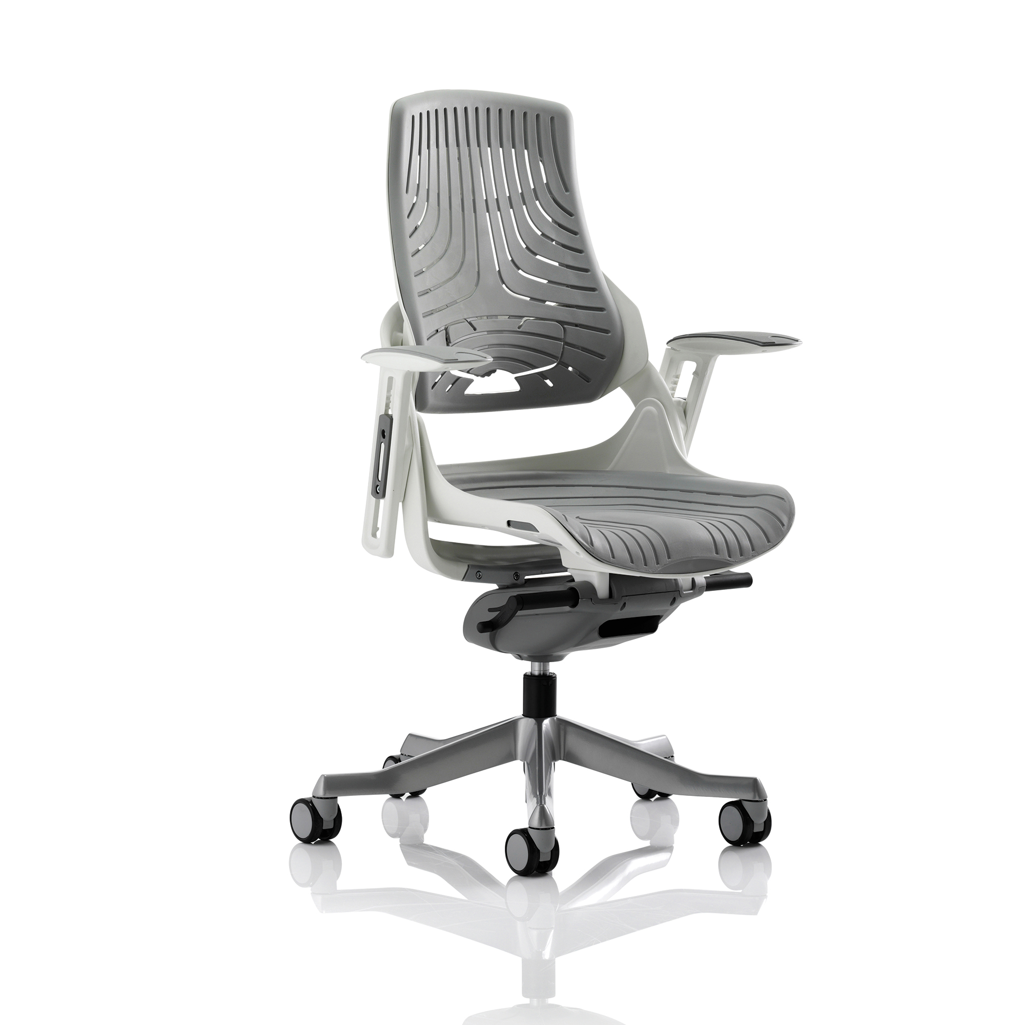 Executive seating Adroit Zure Executive Chair With Arms Elastomer Gel Grey Ref EX000112