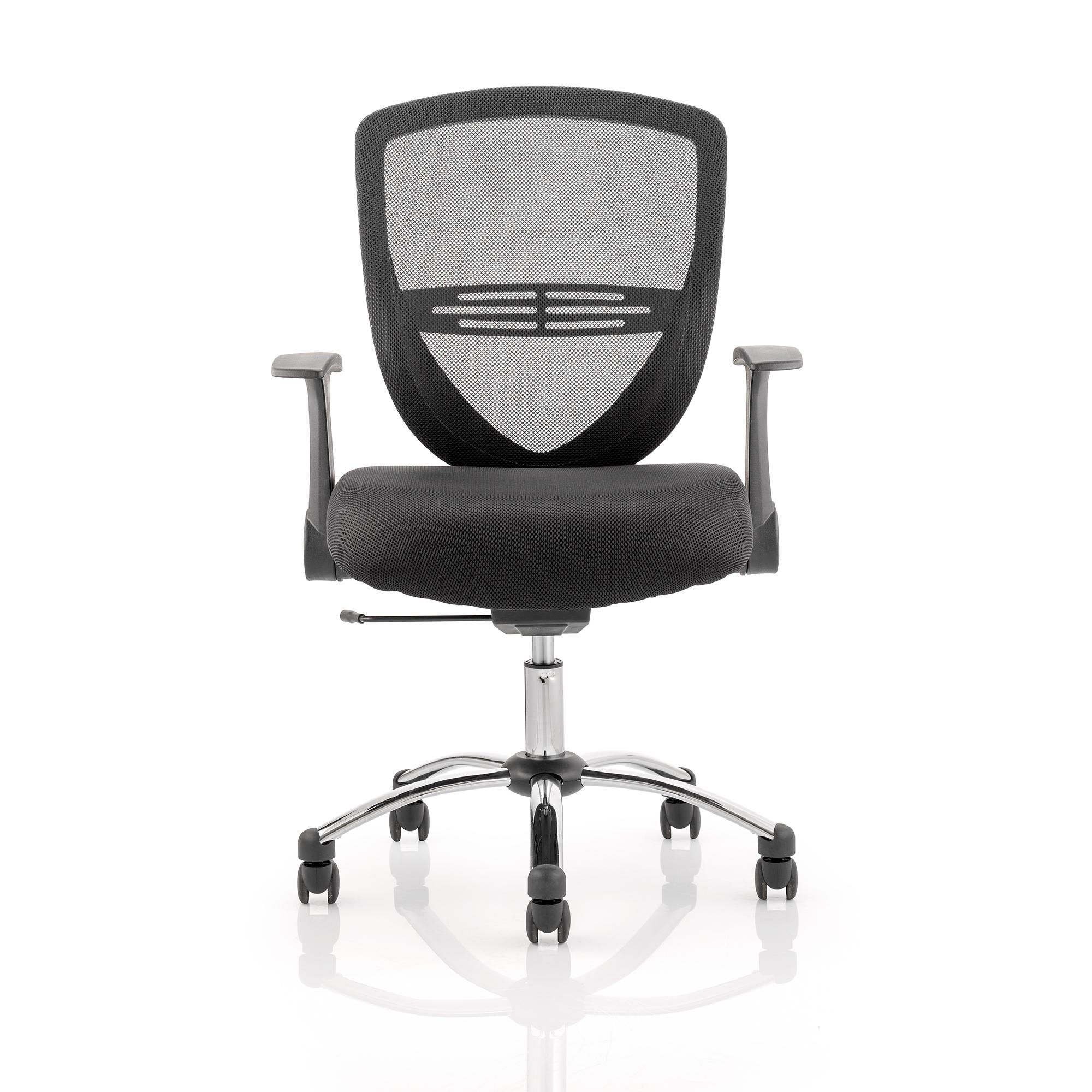 Trexus Iris Task Operator Chair With Arms Fabric Black Ref EX000135
