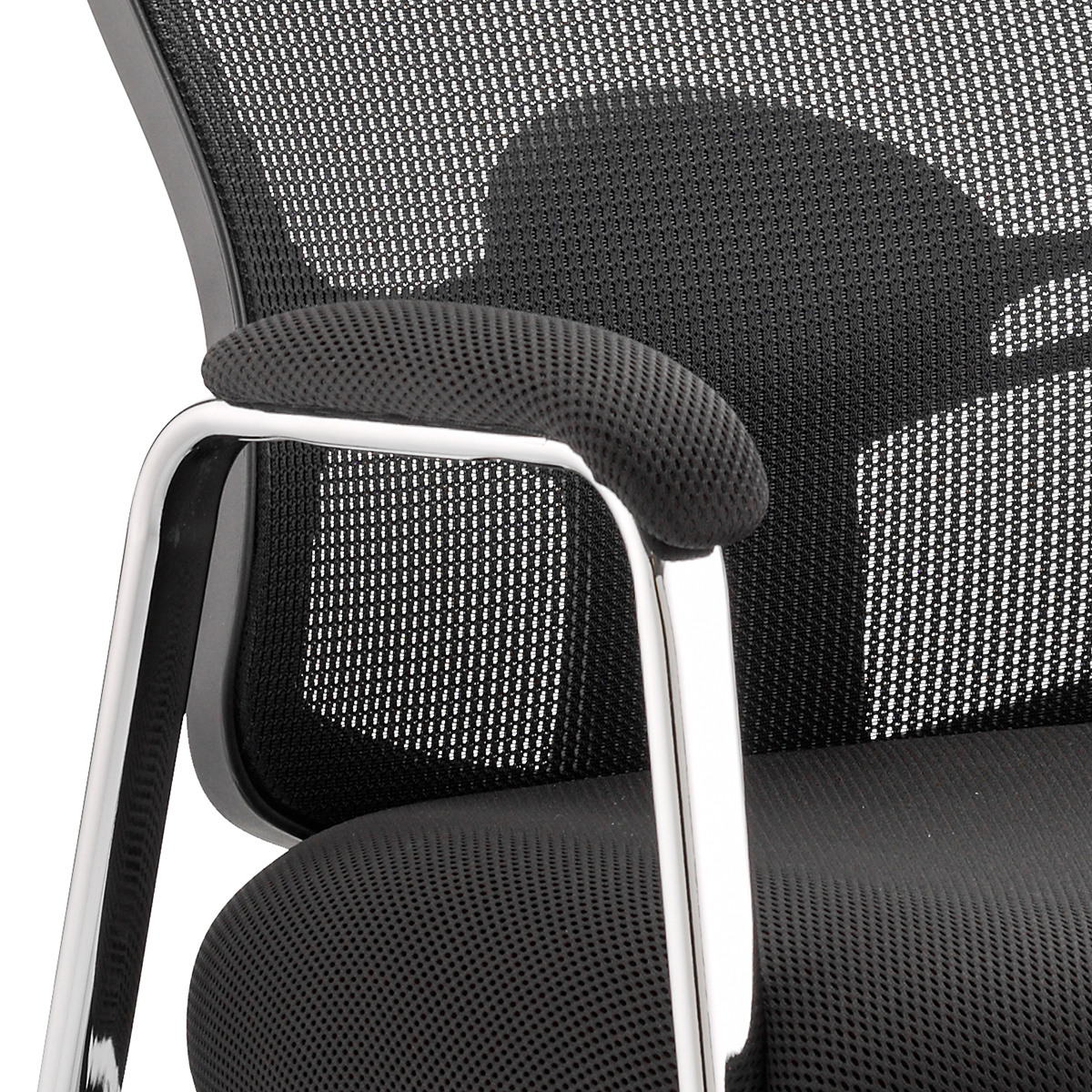 Sonix Portland Visitor With Arms Straight Leg Fabric Seat Mesh Back Black Ref BR000115