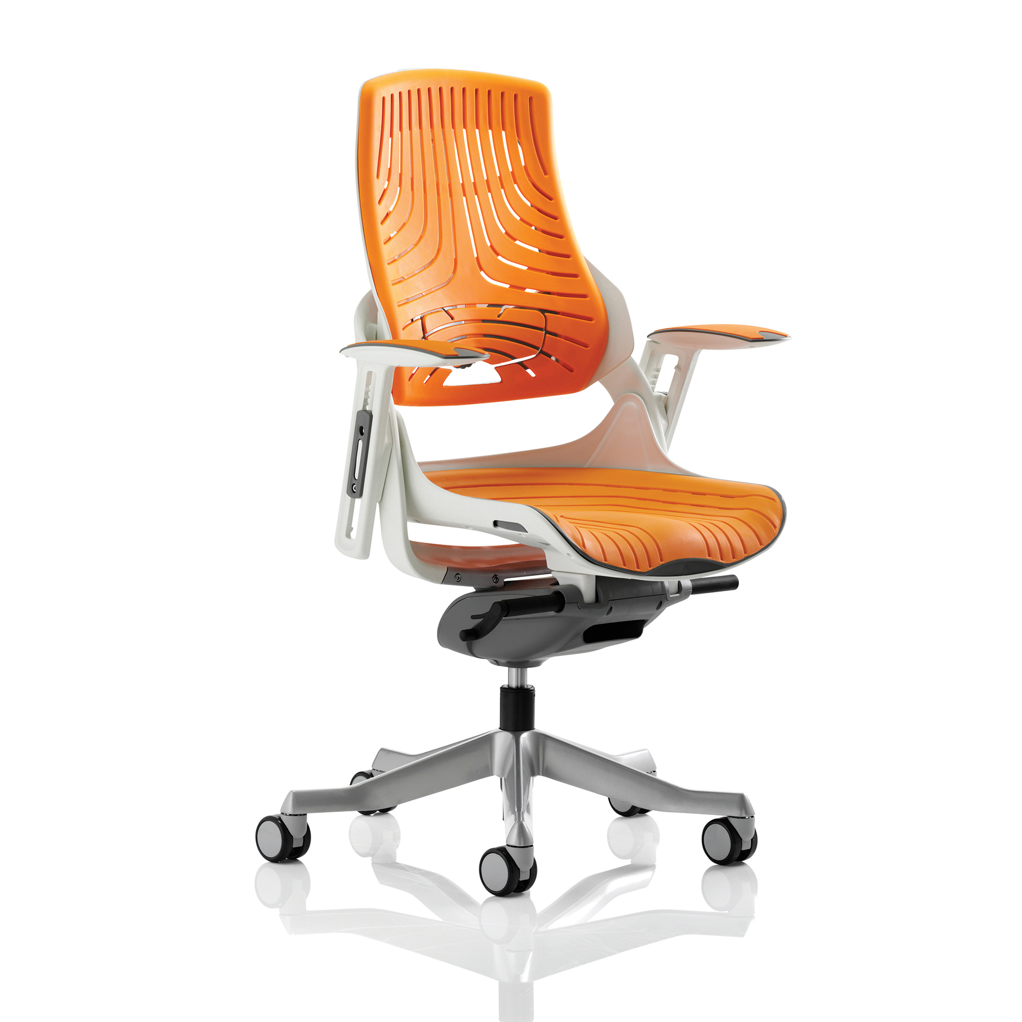 Executive seating Adroit Zure Executive Chair With Arms Elastomer Gel Orange Ref EX000133