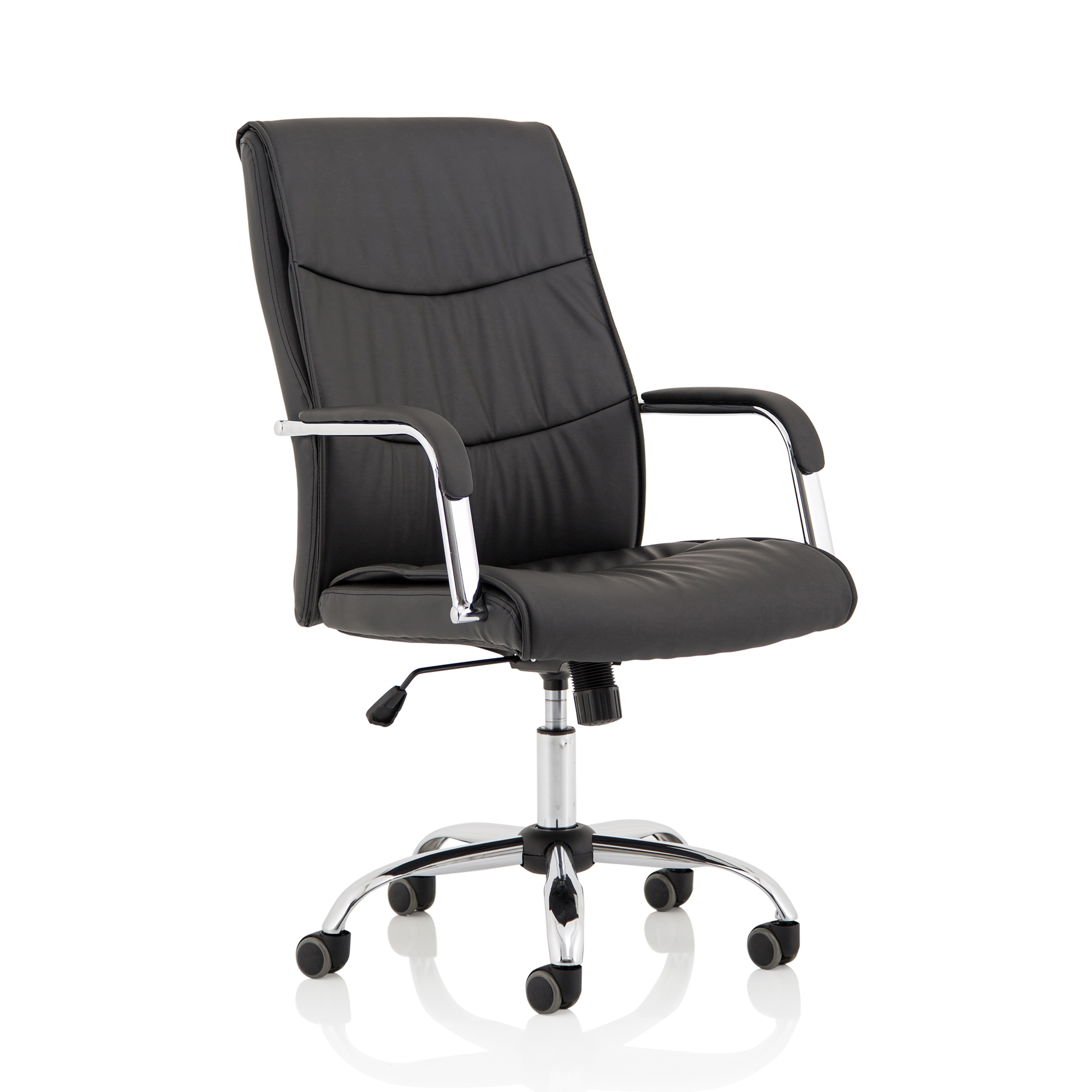 Executive seating Trexus Carter Chair With Arms Luxury Faux Leather Black Ref EX000148