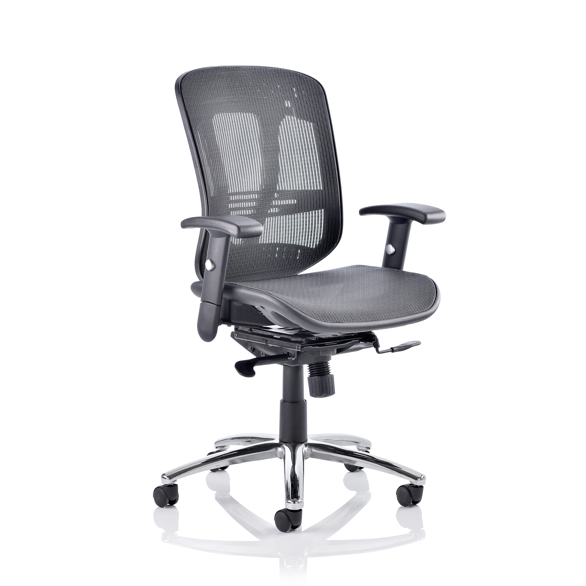 Executive seating Adroit Mirage II Executive Chair With Arms Without Headrest Mesh Black Ref EX000162