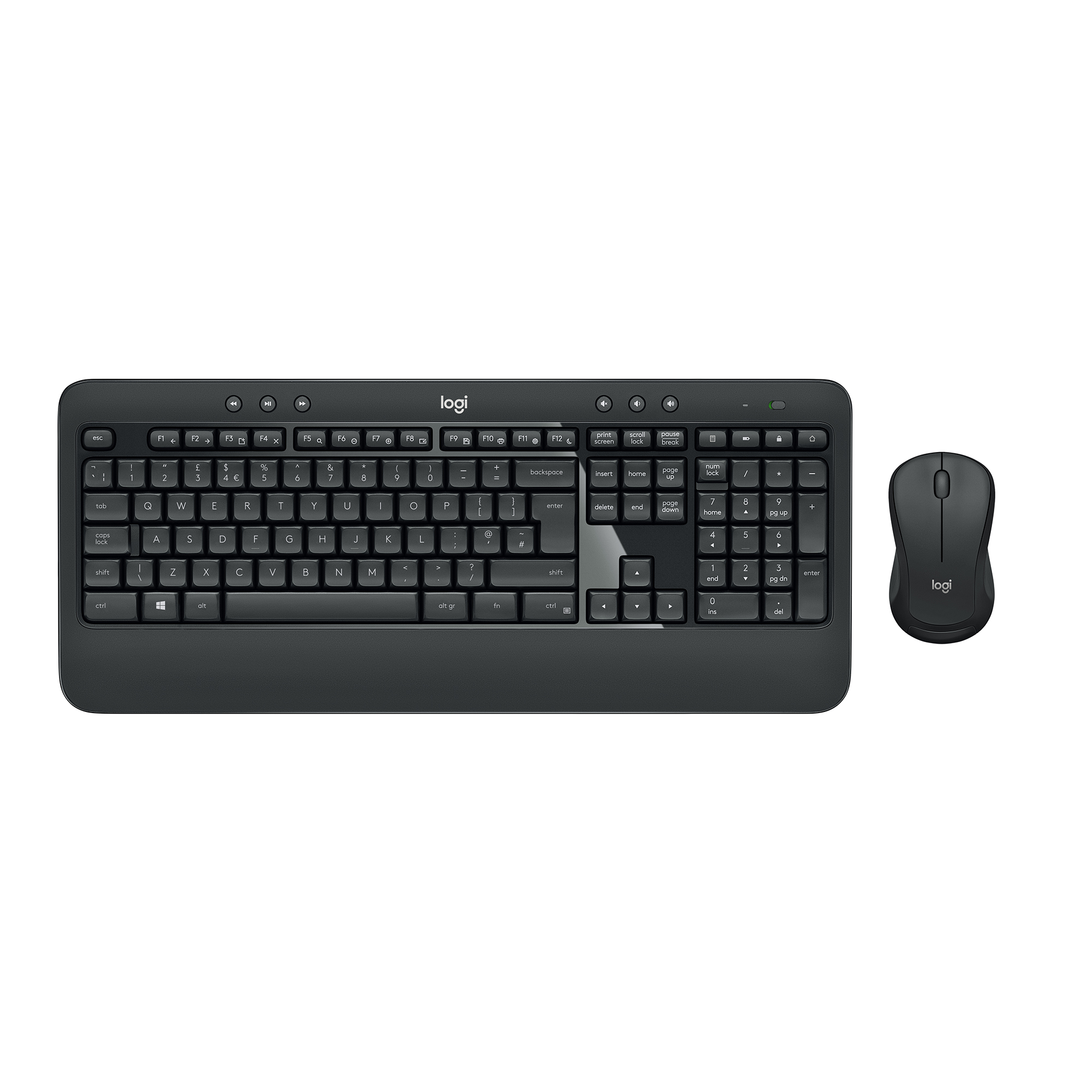 Keyboards Logitech MK540 Wireless Keyboard And Mouse Set Black Ref 920-008684