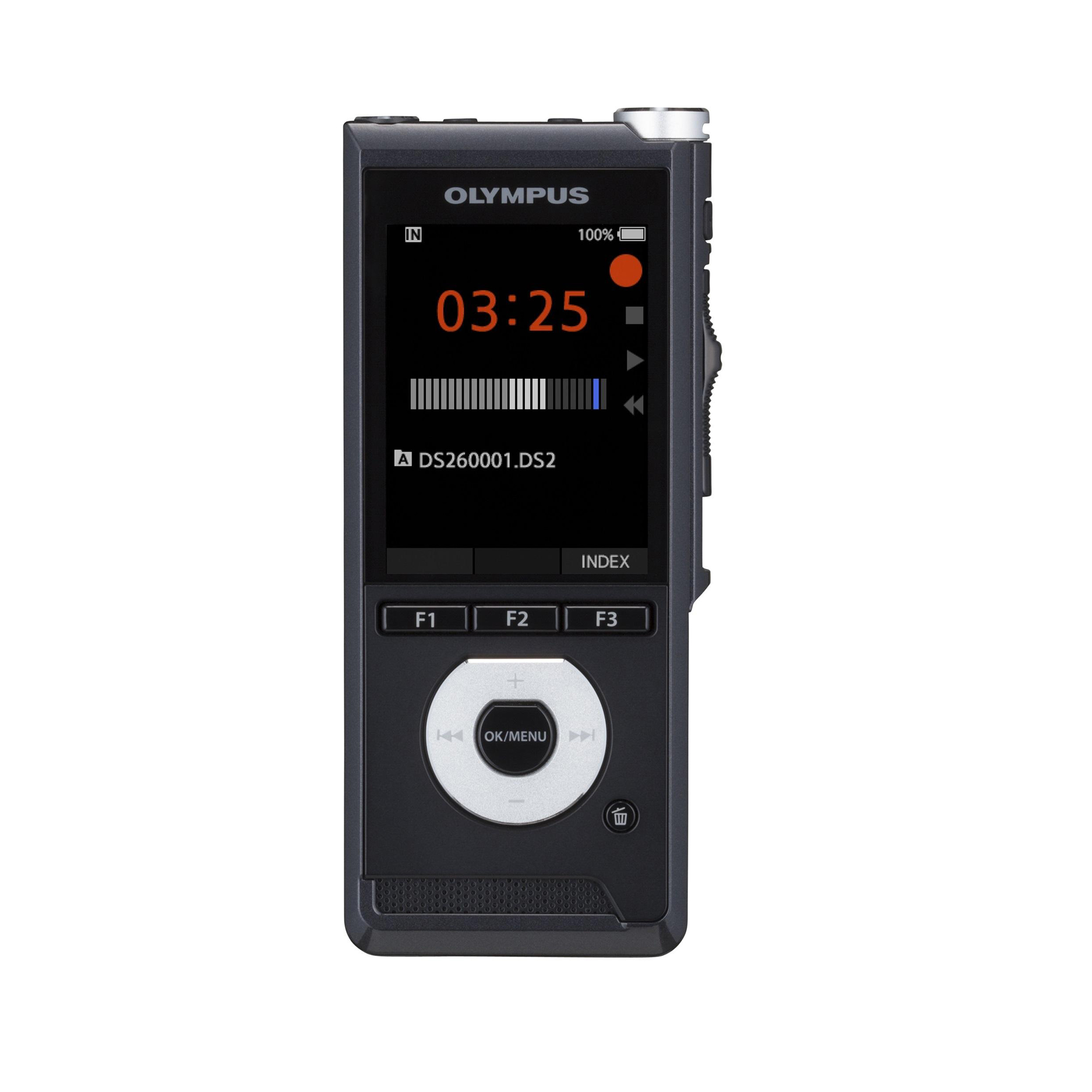 Digital Machines Olympus DS-2600 Digital Voice Recorder With Slide Switch Black Ref V741030BE000