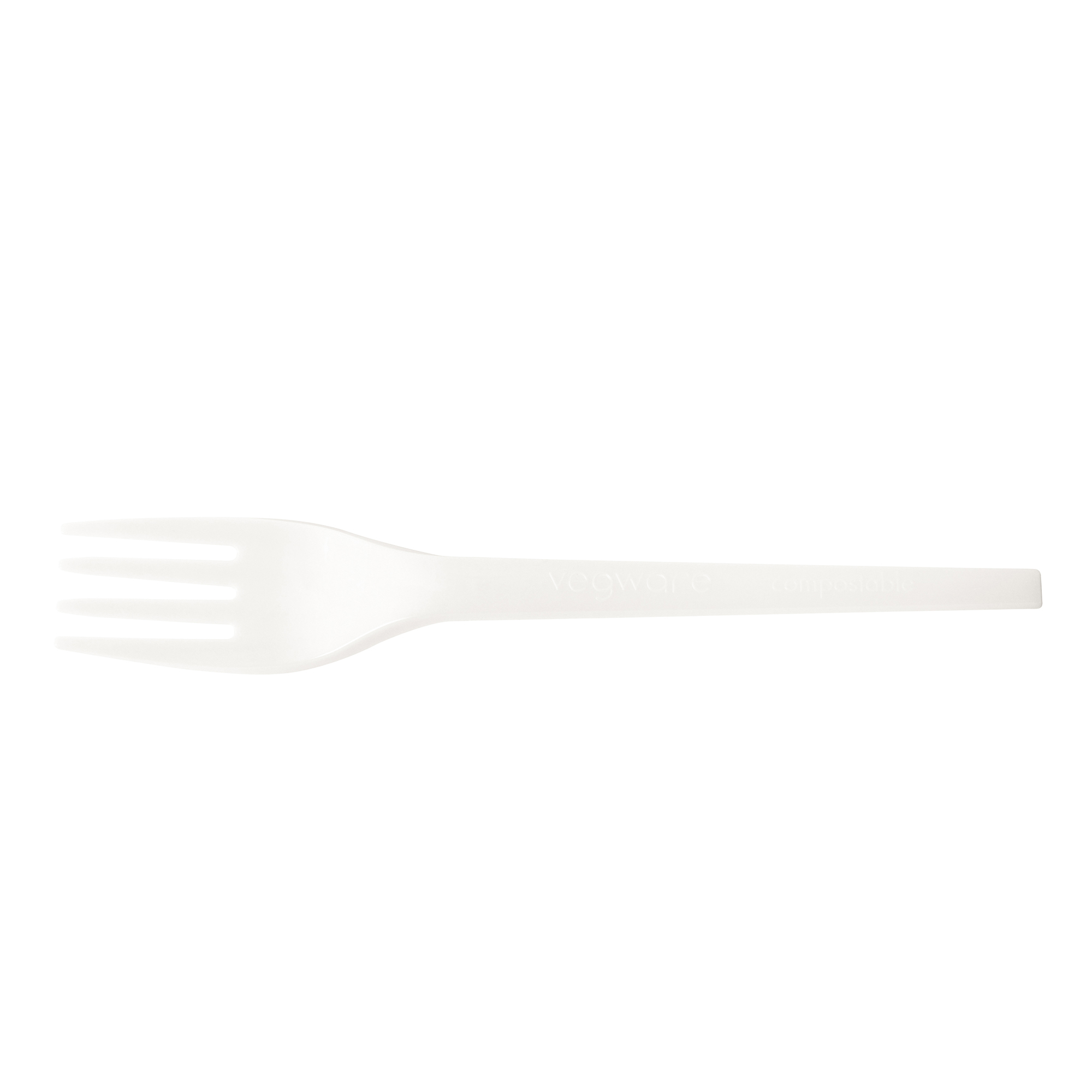 Cutlery Vegware Fork Disposable CPLA White Ref VR-FK6.5W Pack 50