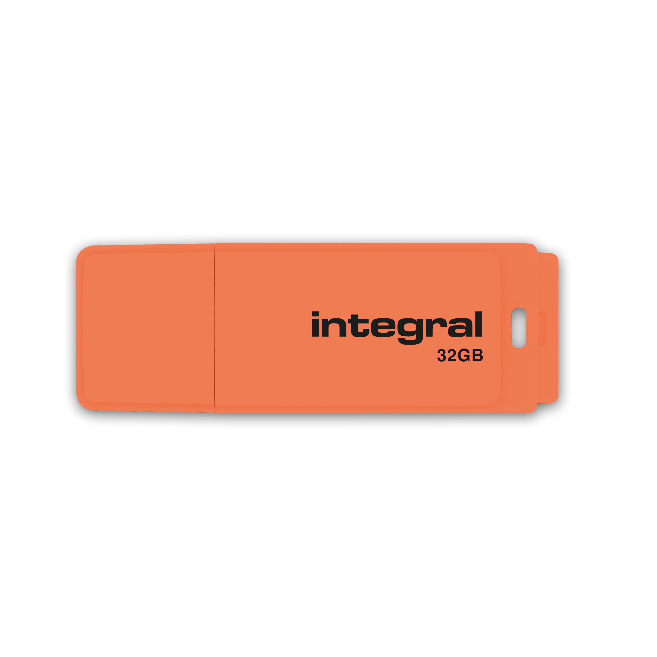 Integral Neon USB Drive 2.0 32GB Orange Ref INFD32GBNEONOR