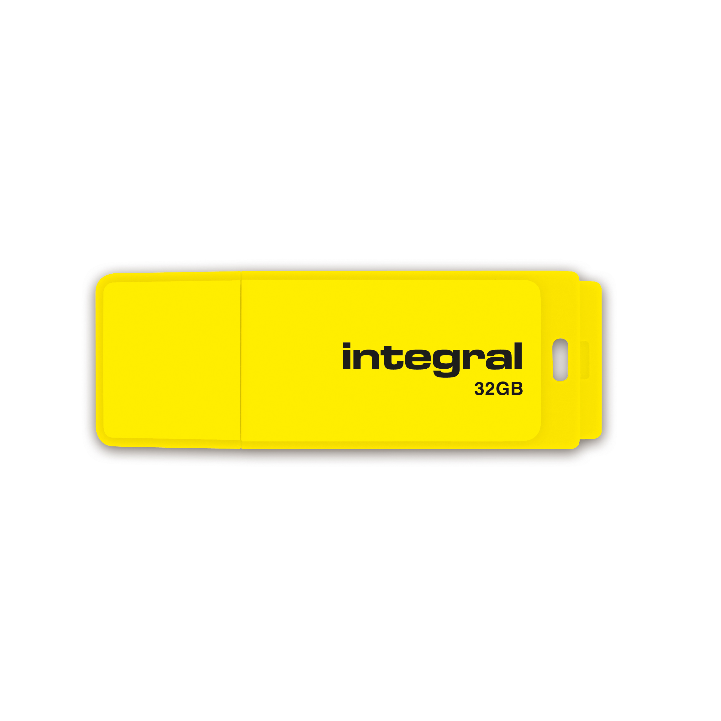 Pen or flash drive Integral Neon USB Drive 2.0 32GB Yellow Ref INFD32GBNEONYL