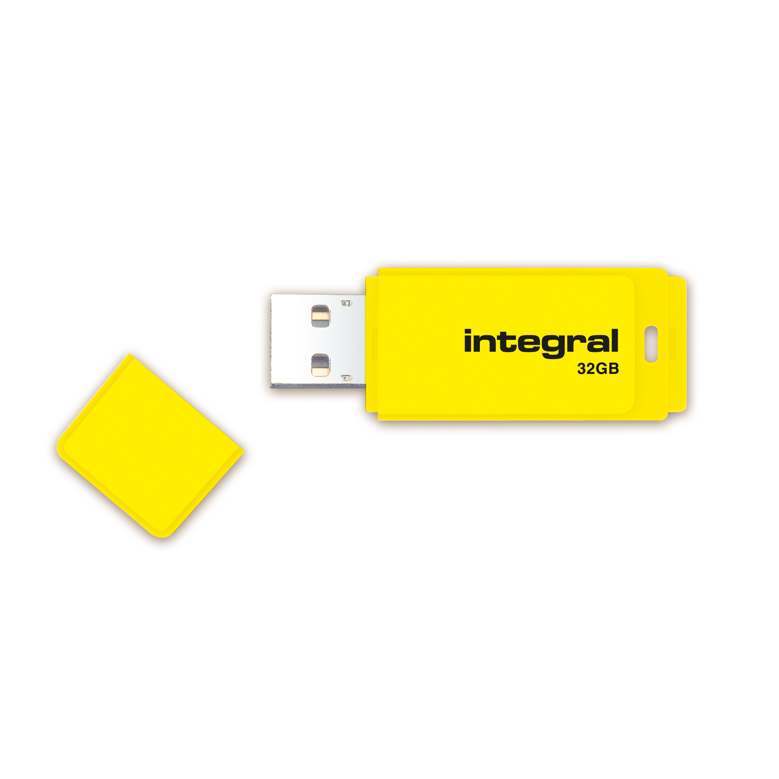 Integral Neon USB Drive 2.0 32GB Yellow Ref INFD32GBNEONYL