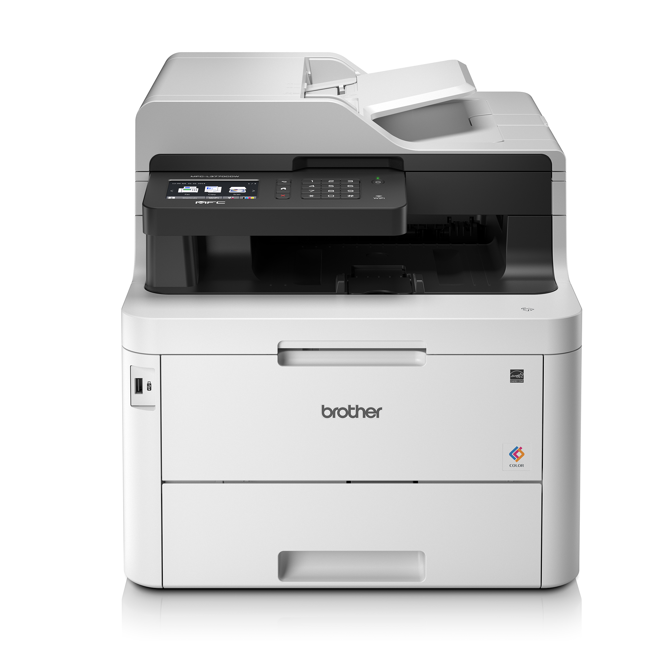 Multifunction Machines Brother MFC-L3770CDW Colour Laser Printer Wireless 4-in-1 with integrated NFC Ref MFC-L3770CDW