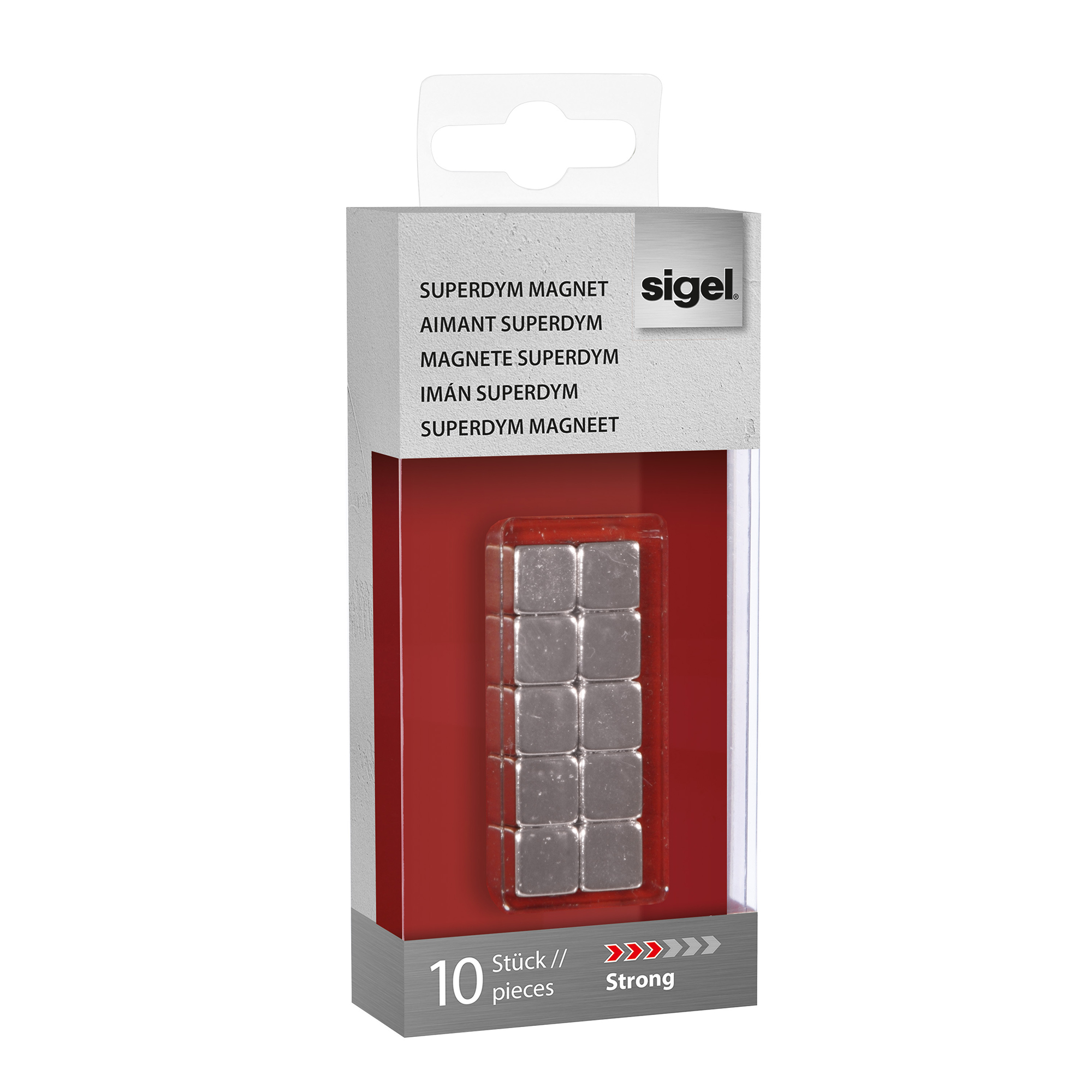Magnets Sigel SuperDym Magnets C5 Cube Silver Ref GL193 Pack 10