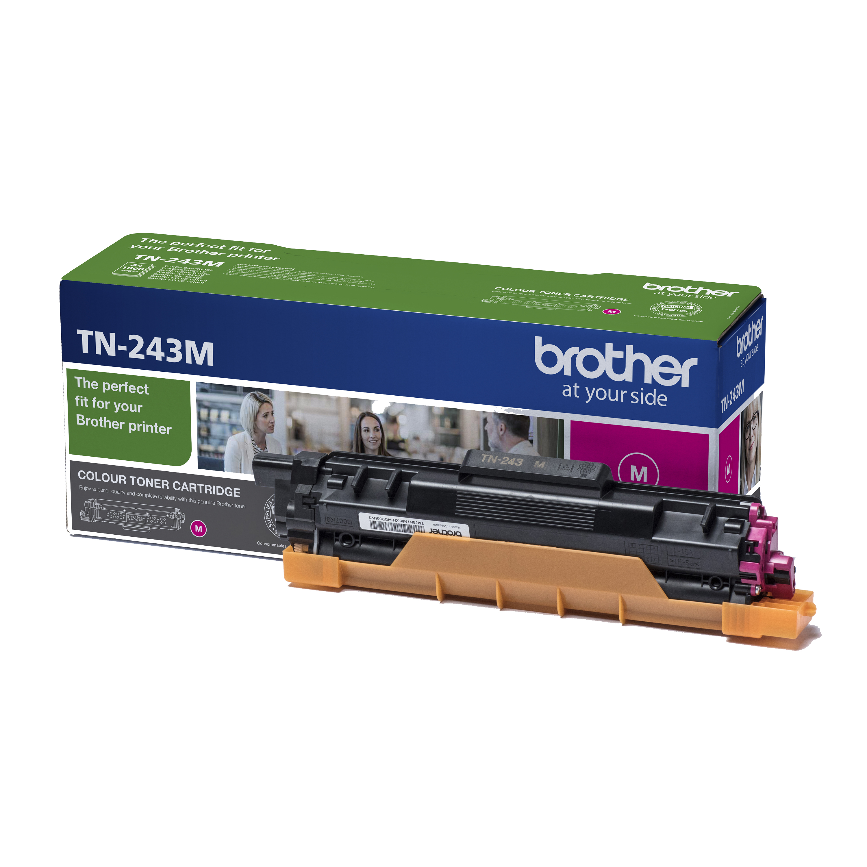 Brother TN243M Toner Cartridge Page Life 1000pp Magenta Ref TN243M